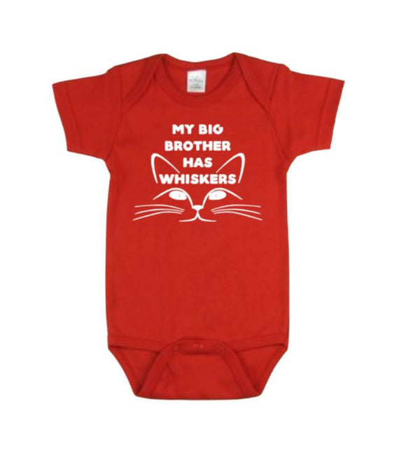 My Big Brother Has Whiskers Baby Bodysuit | Baby Bodysuits | Baby One Piece | Cat Lovers Bodysuit | Cat Bodysuit | Bodysuits | Baby Clothing