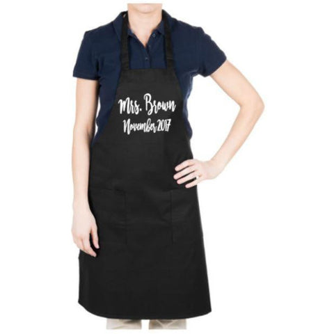 Custom Apron With Name And Date - customgiftstore.com