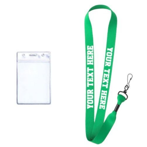 Green Custom Lanyard - customgiftstore.com