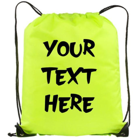 Your Text Here Book Bag | Custom Bookbag | Personalized BackPacks | Bookbags | Back packs | Customized Book Bags | Drawstring Backpack