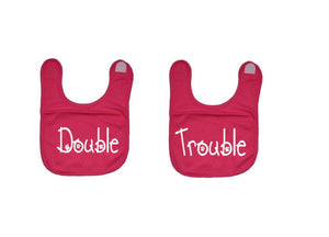 Double Trouble Twin Baby Bibs - customgiftstore.com