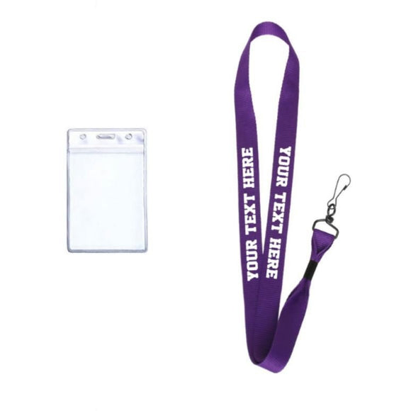Purple Custom Lanyard | Personalized Purple Lanyard | Nurse Lanyard | Teacher Lanyard | Custom Key Chain | Your Text Here Purple Lanyard