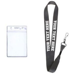 Dark Grey Custom Lanyard - customgiftstore.com