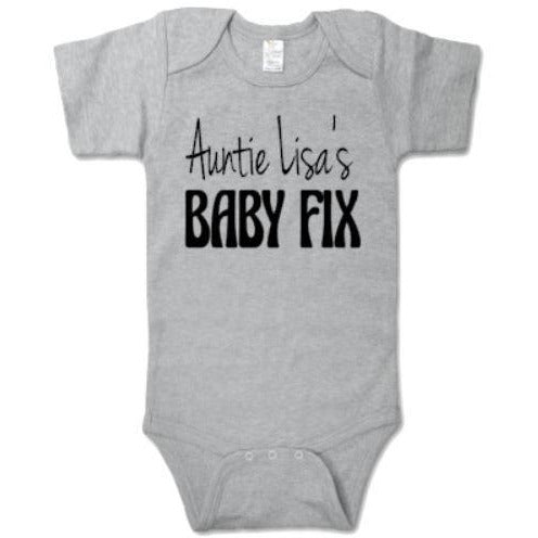 Auntie (Name) Baby Fix Baby Bodysuit - customgiftstore.com