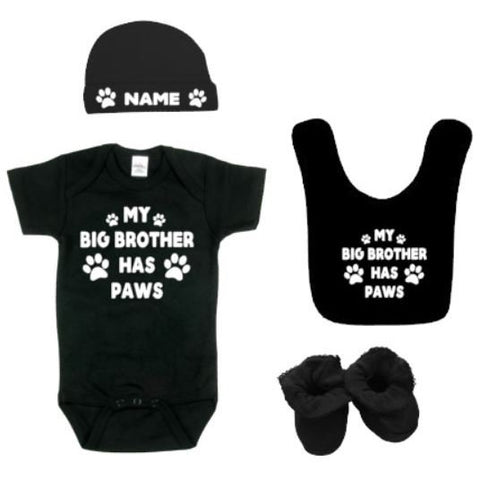 My Big Brother Has Paws Baby Outfit | Baby Outfit | Dog Lovers | My Big Brother Dog Lover Baby Bodysuit | Baby Bodysuits | Baby Clothing Set