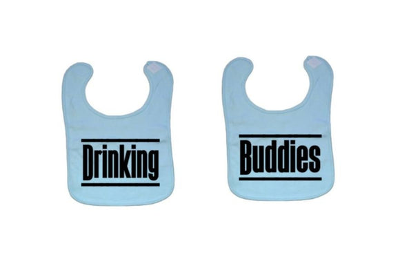 Drinking Buddies Baby Bibs | Twins Baby Bib | Drinking Buddies Bibs | Twin Bibs | Bestfriend Baby Bibs | Baby Clothing | Twins Baby Gift - customgiftstore.com