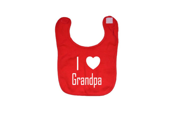 I Love Grandpa Baby Bibs - customgiftstore.com