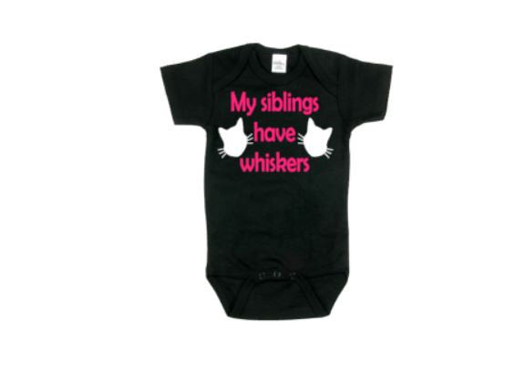 My Siblings Have Whiskers Baby Bodysuit - customgiftstore.com
