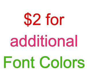 Additional font colors - customgiftstore.com