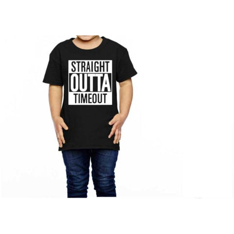 Straight Outta Timeout Toddler Shirt - customgiftstore.com