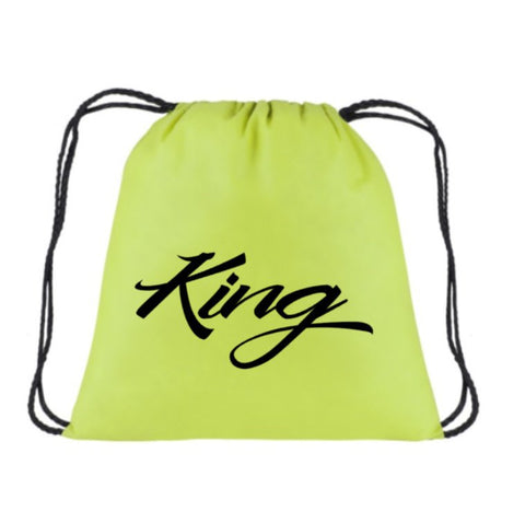 King Back pack | Beach Bag | Funny Drawstring Bookbag | Draw String bag | Birthday Bookbag | Vacation Bookbag | Drawstring Backpack