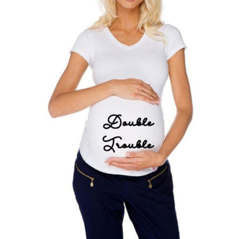 Double Trouble Twins Maternity shirt - customgiftstore.com