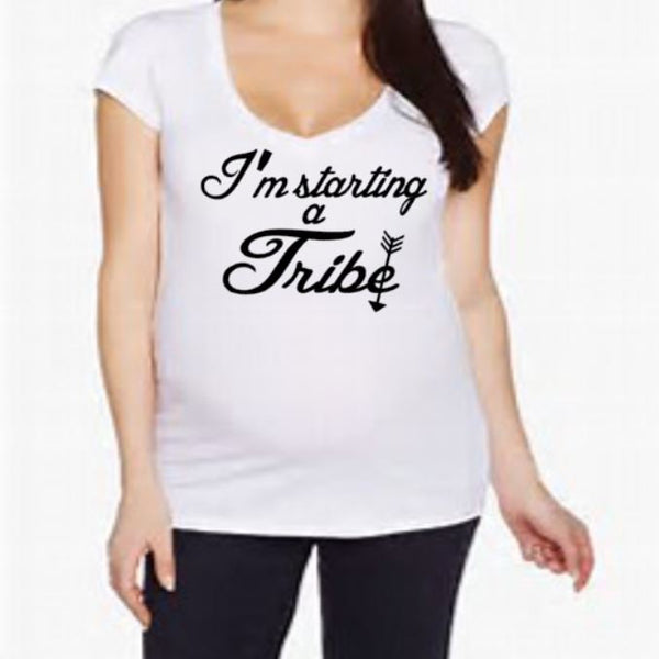 I'm Starting A Tribe Maternity shirt - customgiftstore.com