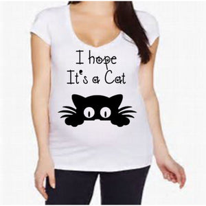 I hope It's A Cat Maternity shirt - customgiftstore.com