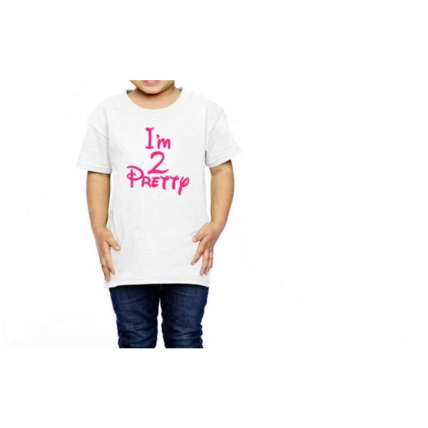 I'm Two Pretty Toddler Shirt - customgiftstore.com