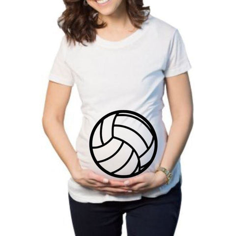 Volley Ball Maternity Shirt - customgiftstore.com