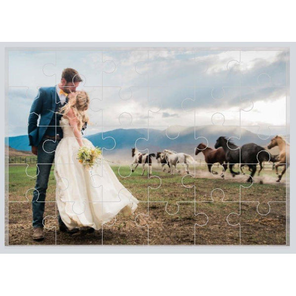 "30 Piece Your Photo Here Jigsaw Puzzles - 7.5"" x 9.5"" - customgiftstore.com"