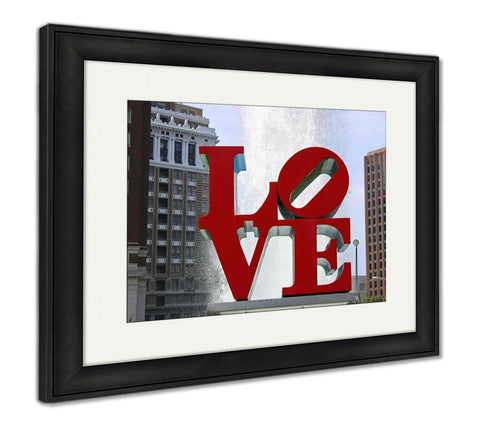 Framed Print, Love Park Philadelphia - customgiftstore.com