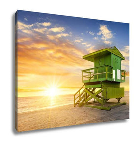 Gallery Wrapped Canvas, Miami South Beach At Sunrise Floridusa - customgiftstore.com