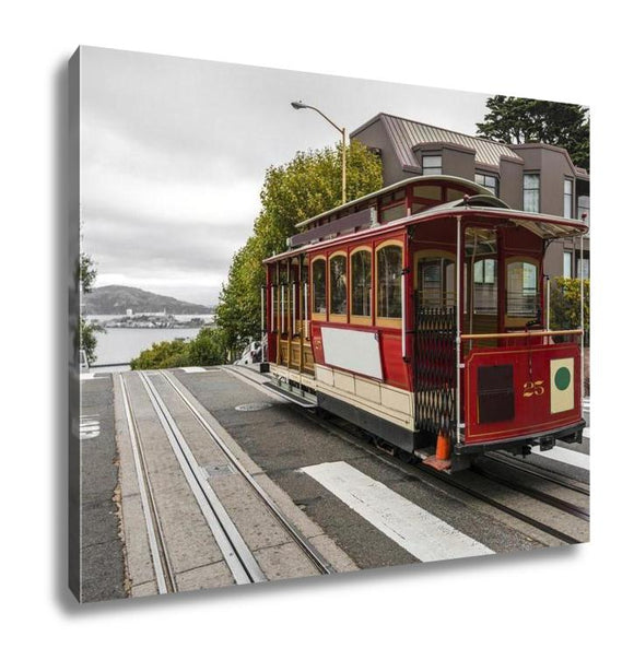 Gallery Wrapped Canvas, Cable Car In San Francisco - customgiftstore.com