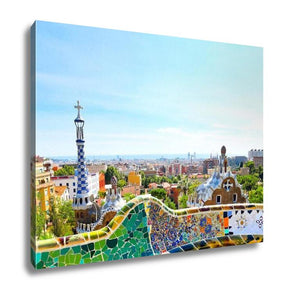 Gallery Wrapped Canvas, Barcelona Spain July 25 The Famous Park Guell On July 25 20 - customgiftstore.com