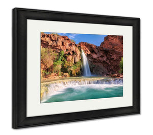 Framed Print, Havasu Falls Waterfall - customgiftstore.com