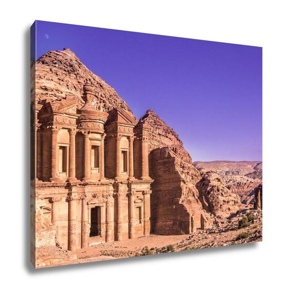 Gallery Wrapped Canvas, The Monastery Petra Jordan - customgiftstore.com