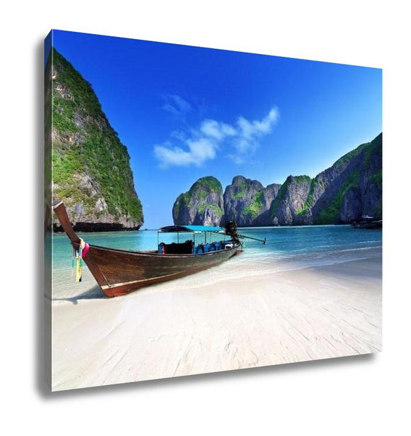 Gallery Wrapped Canvas, Maya Bay Phi Phi Leh Island Thailand - customgiftstore.com