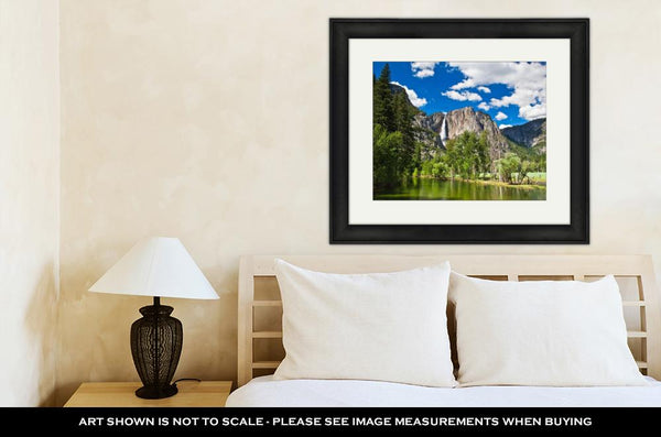 Framed Print, The Waterfall In Yosemite National Park - customgiftstore.com