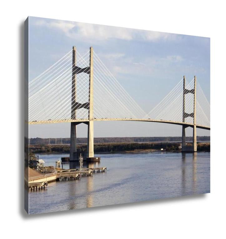 Gallery Wrapped Canvas, Jacksonville Bridge - customgiftstore.com