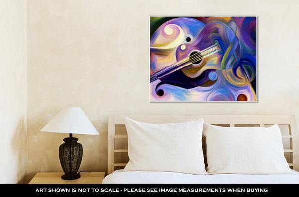 Gallery Wrapped Canvas, Abstract Painting On Subject Of Music And Rhythm - customgiftstore.com
