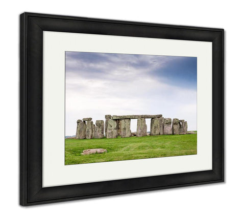Framed Print, Stonehenge Is Famous Prehistoric Landmark And World Heritage Site Stonehenge On - customgiftstore.com
