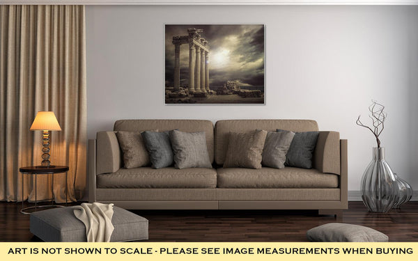 Gallery Wrapped Canvas, Apollon Temple Ruins Antalyaturkey - customgiftstore.com