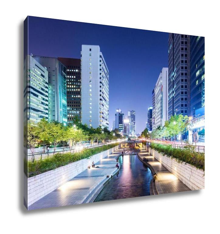 Gallery Wrapped Canvas, Cheonggyecheon In Seoul City - customgiftstore.com