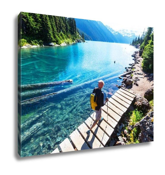Gallery Wrapped Canvas, Hike On Garibaldi Lake Near Whistler BC Canada - customgiftstore.com
