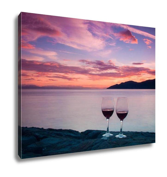 Gallery Wrapped Canvas, Romantic Sunset In West Vancouver - customgiftstore.com