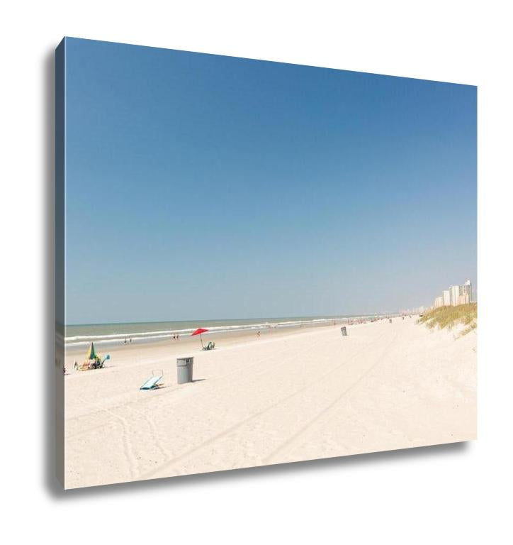 Gallery Wrapped Canvas, Typical Summer Day In Myrtle Beach - customgiftstore.com