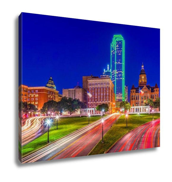 Gallery Wrapped Canvas, Little Rock Arkansas USA Downtown Skyline On The Arkansas River - customgiftstore.com