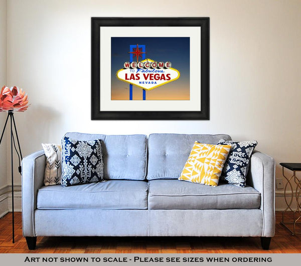 Framed Print, Welcome To Las Vegas Sign - customgiftstore.com