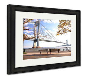 Framed Print, Bicycle In The Autumn Park - customgiftstore.com