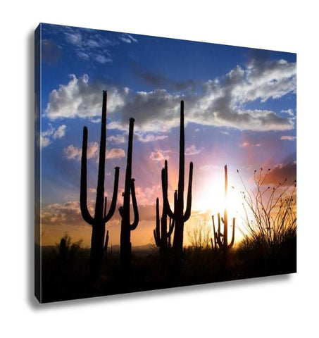 Gallery Wrapped Canvas, Saguaro Sunset - customgiftstore.com