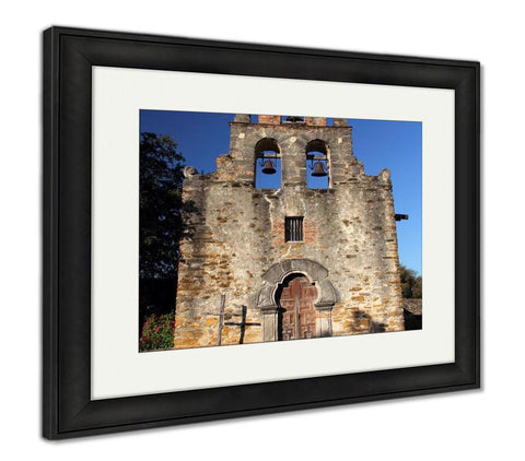 Framed Print, Mission Espada San Antonio Missions National Historical Park Texas - customgiftstore.com