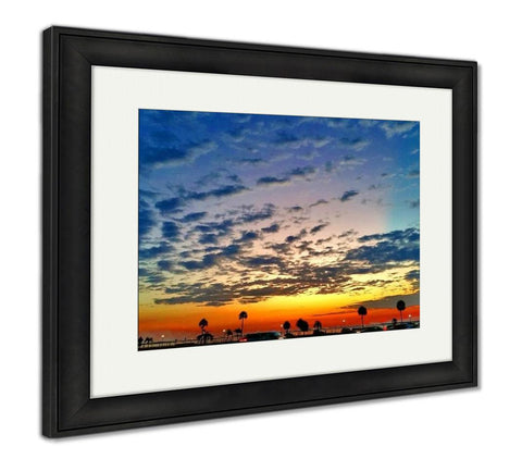 Framed Print, South Tampa Bay Sunrise Early Morning Walk - customgiftstore.com