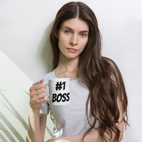 #1 Boss Coffee Mug - customgiftstore.com