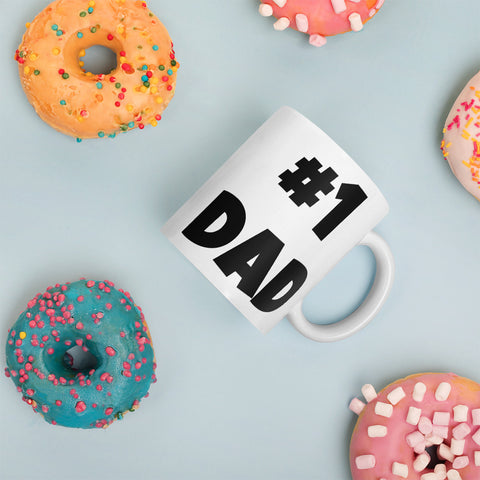 #1 Dad Coffee Mug - customgiftstore.com