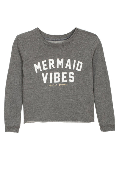 MERMAID VIBES CROP SWEATSHIRT (8-14) - Spiritual Gangster