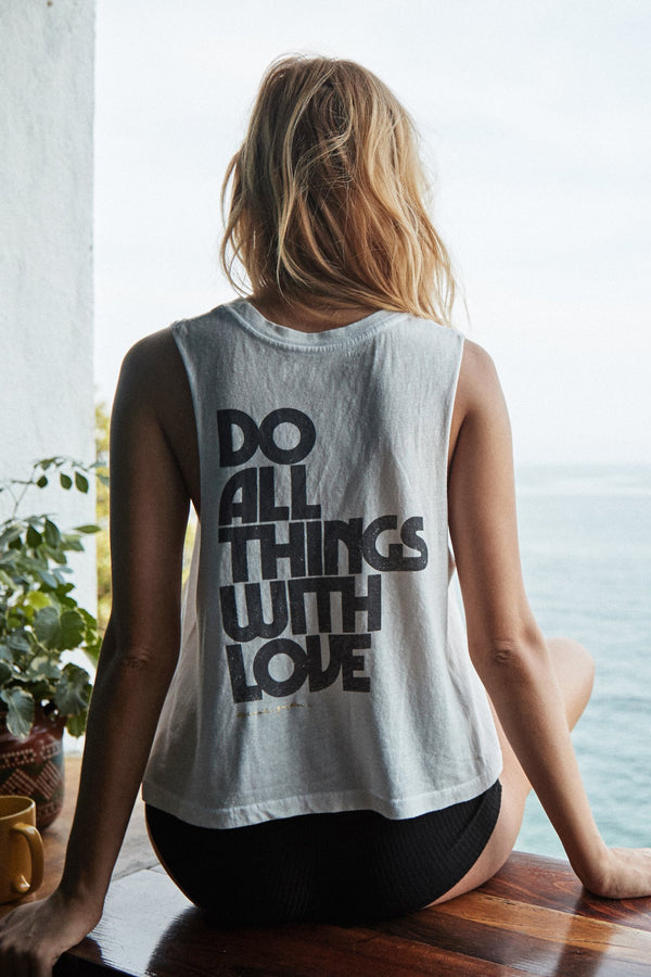 DO ALL THINGS WITH LOVE CROP TANK - Spiritual Gangster