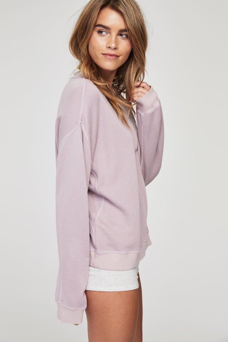 Loved in Crew Sweatshirt Rose Quartz