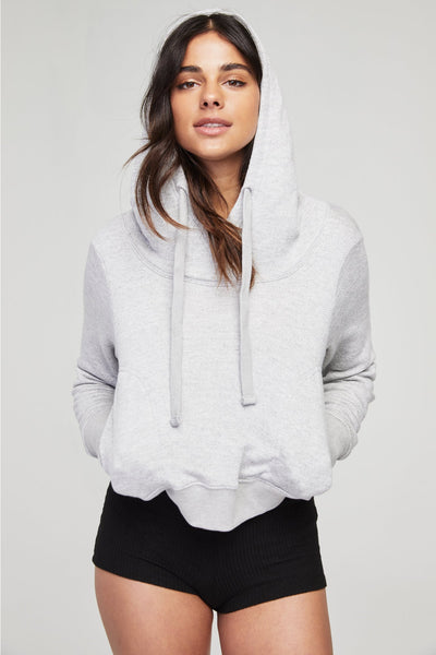 DRAPEY DAZED HOODIE HEATHER GREY - Spiritual Gangster
