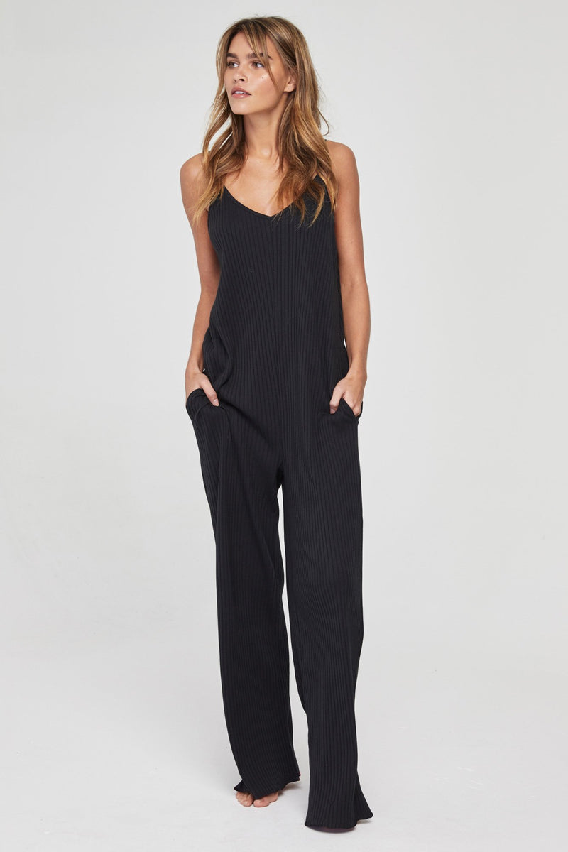 RIB SCOOP BACK JUMPSUIT